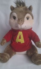 Adorable Big Rare 'Alvin' The Chipmunk Build-a-Bear Plush Toy